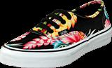Vans - K Authentic Hawaiian Flora Black