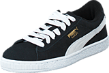 Puma - Suede Jr Black-White