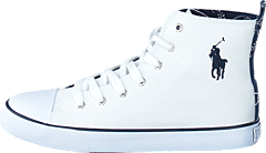 Ralph Lauren Junior - Harbour Hi White Canvas - Navy