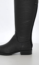 Marc O'Polo - Flat Heel Long Boot Milled Calf/Suede Black