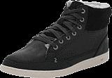Hub Footwear - Mark Leather/Wool Black