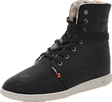 Hub Footwear - Tin Leather/Wool Black
