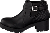 Bianco - Quilted Chelsea Boot Black
