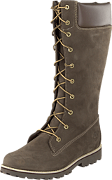 Timberland - Girls Classic Tall Lace Up Dark Brown