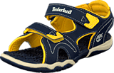 Timberland - Adventure 2-strap sandal Navy/Yellow