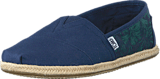 Toms - Seasonal Classics Navy Hibiscus Canvas