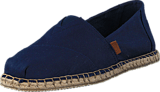 Toms - Seasonal Classics Navy Canvas/Blanket Stich