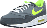 Nike - Nike Air Max 1 (Gs) Cool Grey/Volt-Anthrct-White