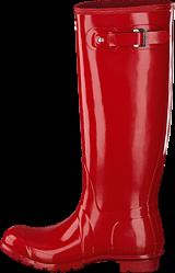 Hunter - Women's Orig Tall Gloss Military Red