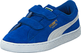Puma - Suede 2 straps Kids Snorkel Blue-White