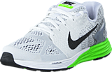 Nike - Nike Lunarglide 7 White/Black-Electric Green
