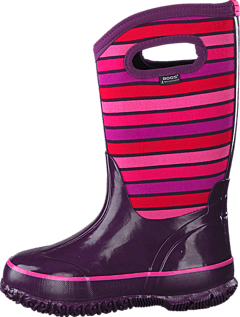 Bogs - Classic Stripes Kids Purple Multi