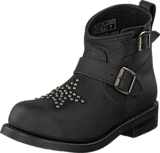PrimeBoots - Vera Low Old Crazy Black/Nickel
