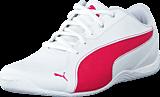 Puma - Drift Cat 5 L NU Jr White-Rose Red