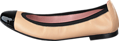 Pretty Ballerinas - 37190 Beige/Black Leather