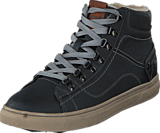 Mustang - 4108601 Men's High Top Sneaker Black