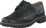 Clarks - Montacute Hall Black Leather