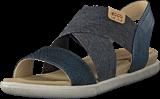 Ecco - 248223 Damara Sandal Black/ Black/ Powder