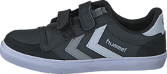 Hummel - Stadil Jr Leather Low Black/White/Grey