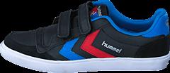 Hummel - Stadil Jr Leather Low Black/Blue/Red/Gum