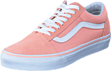 Vans - UA Old Skool Suede Canvas Peach/White