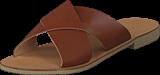 Pieces - Pslucca Leather Sandal Cognac