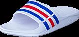 adidas Sport Performance - Duramo Slide White/True Blue/Red S09