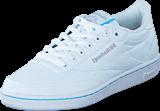 Reebok Classic - Club C85 TC White/Neon Blue/Steel