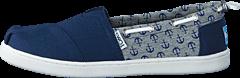 Toms - Bimini Espadrille Yt Navy Anchor