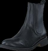 Angulus - Boot w. elastic slip-on design Black