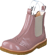 Angulus - Chelsea boot stitched detail 1387/010 Patent powder/Beige