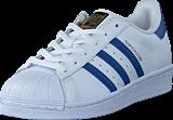 adidas Originals - Superstar Foundation J Ftwr White/Eqt Blue S16/Eqt Bl