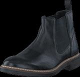 Clarks - Blackford Top Black Leather