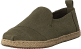Toms - Deconstructed Alpargata Rope Olive Washed Canvas/rope