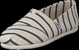 Toms - Alpargata White/navy  Riviera Stripe