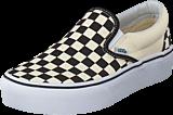 Vans - Ua Classic Slip-on Platform Black And White Checker/white