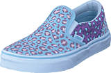 Vans - Uy Classic Slip-on 2-tone Leopard Blue/orchid